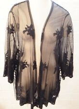 NEW Torrid Size 1 2 Plus 1X 2X Black Lace Kimono Cardigan Top SOLD OUT SeXy