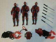 GI JOE Retaliation Cobra RED NINJA lot of 3 loose w/ accessories
