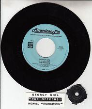 """THE SEEKERS  Georgy Girl & HIGHWAYMEN Michael 7"""" 45 record + jukebox strip NEW"""