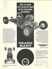 Vintage Beautiful 1960's Sears Model 300 Go-Kart Ad