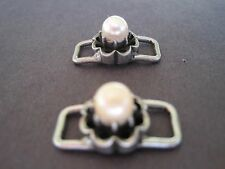 Shoe Clip Cultured Pearl - 1 Pair - Adds Flare to your Shoes - Kids Jewelry NEW