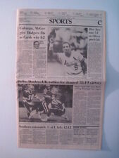 Louisville Courier Journal 10-13-1985. St. Louis Cardinals! UK Football! UL