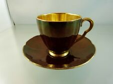 ROUGE ROYALE ART DECO CUP & SAUCER BY CARLTON WARE ENGLAND