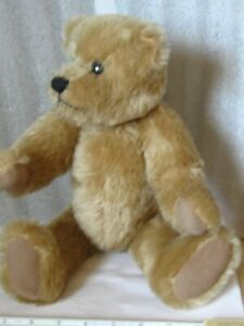 """Artist made Vintage traditional 15"""" Mohair tan Bear jointed no tag date1986"""