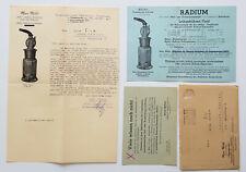 1944 Max Möhl Belko-Radium München Garmisch-Partenkirchen Werbung Stempel WHW