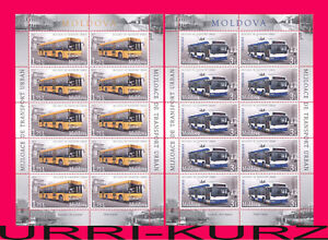 MOLDOVA 2013 City Urban Transport Bus & Trolleybus 2 m-s Sc805-806 MNH