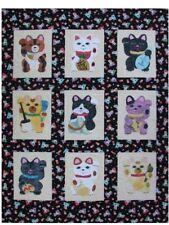 Quilt PATTERN Maneki Neko Lucky cat kitty Japanese NOT A FINISHED QUILT