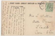 Miss L. Williams, Belle Viu, Llandilo, Carmarthenshire 1906 Postcard, B276