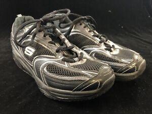 Skechers Shape Ups Walking Shoes Black 12320 - Women's Size 9