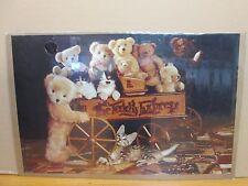 vintage 1985 Teddy Express original cute bear kitten poster 11418