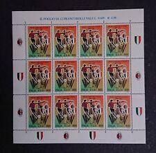 📨 Francobolli Italia Repubblica 1999 Milan Campione d'Italia 1998-99 FoglIo