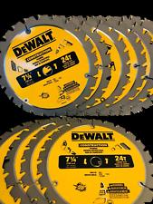"""(10 Pack) 7 1/4"""" DW3178B10 entramado de Sierra Circular Hoja De Sierra DeWalt de carburo"""