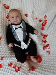 Baby Jungen Kinder Strampler Eleganter Anzug Smoking Geschenk Geburt