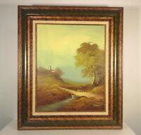 "GORMAN original OIL PAINTING signed OF CASTLE/LANDSCAPE OIL on Canvas 24 x 30"""
