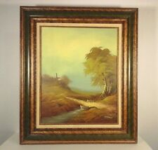 GORMAN original OIL PAINTING signed OF CASTLE/LANDSCAPE OIL on Canvas 24 x 30""