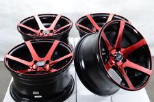 15x8 4x100 Red Wheels Fits Honda Civic Fit Insight Mini Cooper Jetta 4 Lug Rims