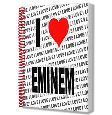 I Love Eminem - A5 Notebook Pad Diary Drawings Birthday Christmas Gift