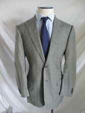 Corneliani Spencer black blue micro houndstooth plaid blazer sport jacket 50 40R