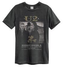 U2 'Live' (Charcoal) T-Shirt - Amp   - NEW & OFFICIAL!