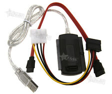 """USB 2.0 to 2.5"""" 3.5"""" SATA/PATA/IDE Hard Drive Adapter Converter Cable High-Speed"""