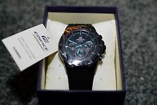 Casio Edifice Men's EF-552PB-1A2V Black Resin Quartz Watch with Black Dial NEW