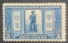 Travelstamps: 1925 US Stamps Scott #619 The Minute Man, 5¢ Mint MNG