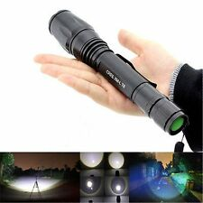 2000Lm Lamp XM-L T6 LED Zoomable Focus 18650 Flashlight Torch Black  Waterproof