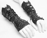 Punk Rave WS-278 Men Gloves Spike And Bukles Burning Man Steampunk Industrial
