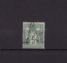 timbre France  Sage  5c  vert      num: 64    oblitéré