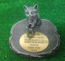 Cat Large Pet Memorial/headstone/stone/grave marker/memorial with plaque 25