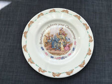 Vintage Royal Doulton Bunnykins Christening Plate 20.5cms 1990's As New