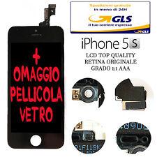 LCD COMPLETO PER APPLE IPHONE 5S NERO CON DISPLAY RETINA ORIGINALE con FRAME