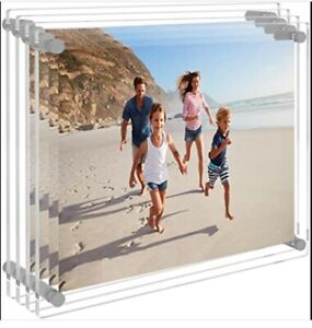 8x10 Wall Display Acrylic Picture Frame Clear Floating Photo Wall Mount 4 Pack