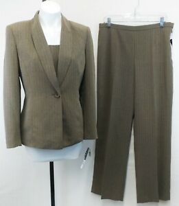 New Kasper Women Suit, 3-piece, brown, polyester