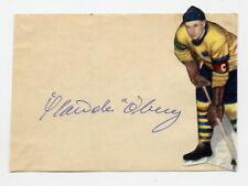 1952 Oslo Ice Hockey Bronze HANS ÖBERG Orig Autograph from 1950s