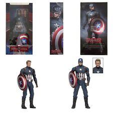 "CAPTAIN AMERICA 1/4 SCALE Neca MARVEL CIVIL WAR (Avengers) 2018 18"" INCH FIGURE"