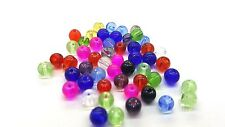 200 x 4mm Crystal Glass Round Beads - Assorted Mixed - A3636