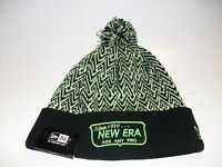 New Era Black Green with Pom 100% Acrylic, Ask Any Pro Beanie One Size Fits Most