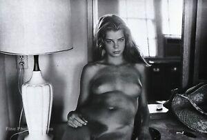 1970s Vintage HELMUT NEWTON Female Nude Woman Motel Room Duotone Photo Art 8x10