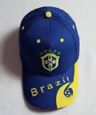 New Plain Blue World Cup Soccer Brazil Cap Golf Baseball Adjustable Football Hat