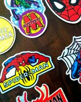 Rare Collectable Marvel Spiderman Huge Lot Collection of Assorted Stickers cards