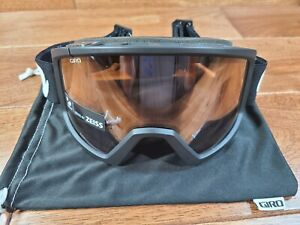 GIRO Blok Adult Ski Snow Goggles Black Static, Rose Silver Lens Optical Class 2
