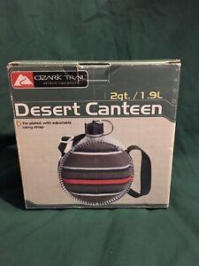 Ozark Trail Desert Canteen 2 Quart Leakproof With Box - Strap - Screw Cap