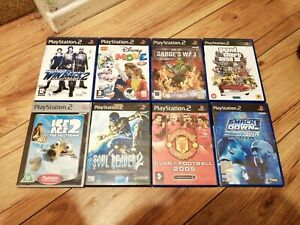 Job Lot Of 8 PS2 Games Sony Playstation 2 PS2 untested winback 2 reaver disney 3