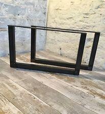 2 fatto a mano TAVOLINO in acciaio grezzo upcycle Furniture GAMBE STILE INDUSTRIALE