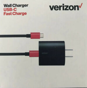 Original Verizon Wall USB-C Type C 6ft Rapid Fast Charge LED Cable 75% Faster VZ