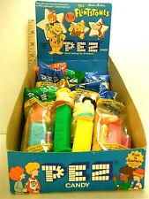 8 pc Pez Collection w/ Store Display 1992 Hanna Barberra Flinstones Yaba Daba Do