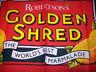 Golden Shred Marmalade Robertsons dazzling vintage tea towel Food ad 100% cotton