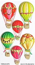 HOT AIR BALLOONS Jolee's Boutique 3-D Stickers - Ballooning Gondolas