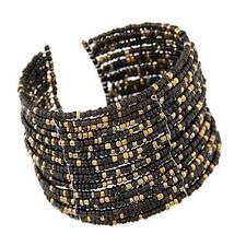 1pc Chic Women Fashion Bohemian Beads Beaded Bracelet Chain Open Design Black